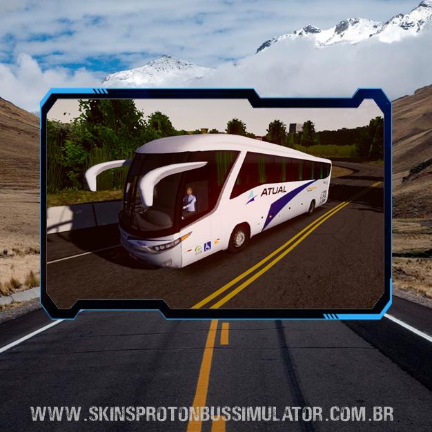 Skin Proton Bus Simulator Road - G7 1200 MB O-500 RS Viação Atual