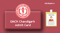 GMCH Chandigarh Sr Resident Admit Card