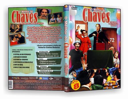Coleção Completa O melhor Do Chaves, 8 Discos – DVD-R