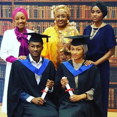 President Buhari's children Yusuf & Zahra graduate from e University of Surrey, United Kingdom {PHOTOS}