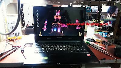 service laptop lenovo g40-45 tidak tampil