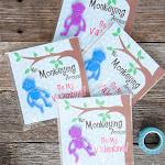 Free Printable Monkey Valentine