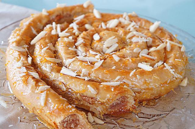 M'Hanncha - Μαροκινό Σιροπιαστό Γλυκό
