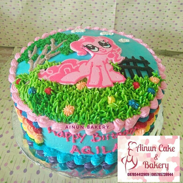 Ainun Cake N Bakery Kue Tart Karakter Little Pony Custom Cake Kuda