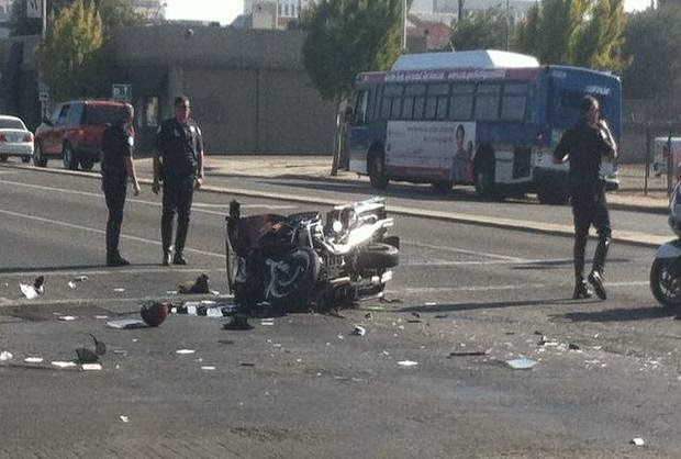 downtown fresno motorcycle collision f street fatality