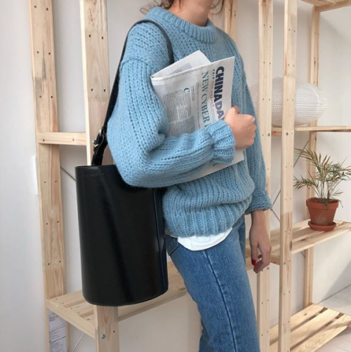 How to wear blue sweater