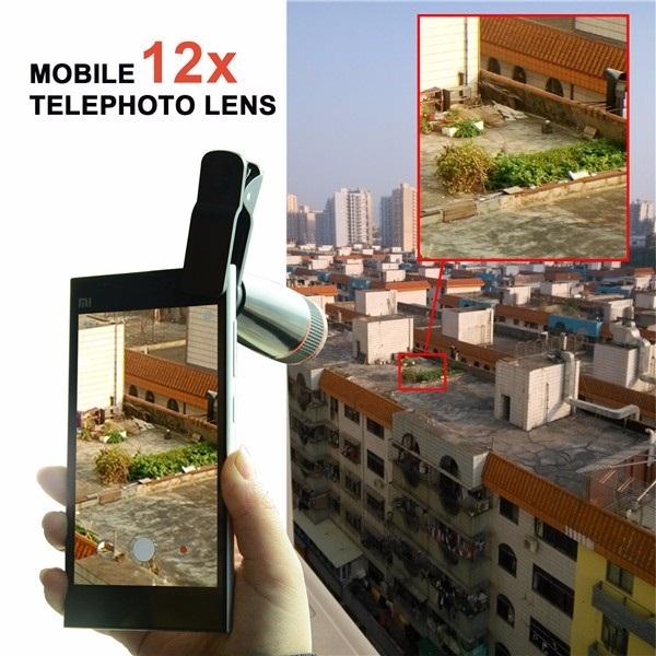 Zoom Optical 12X Telephoto Telescope Lens