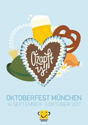 Cartel de la Oktoberfest 2017 (Múnich) (@mibaulviajero)