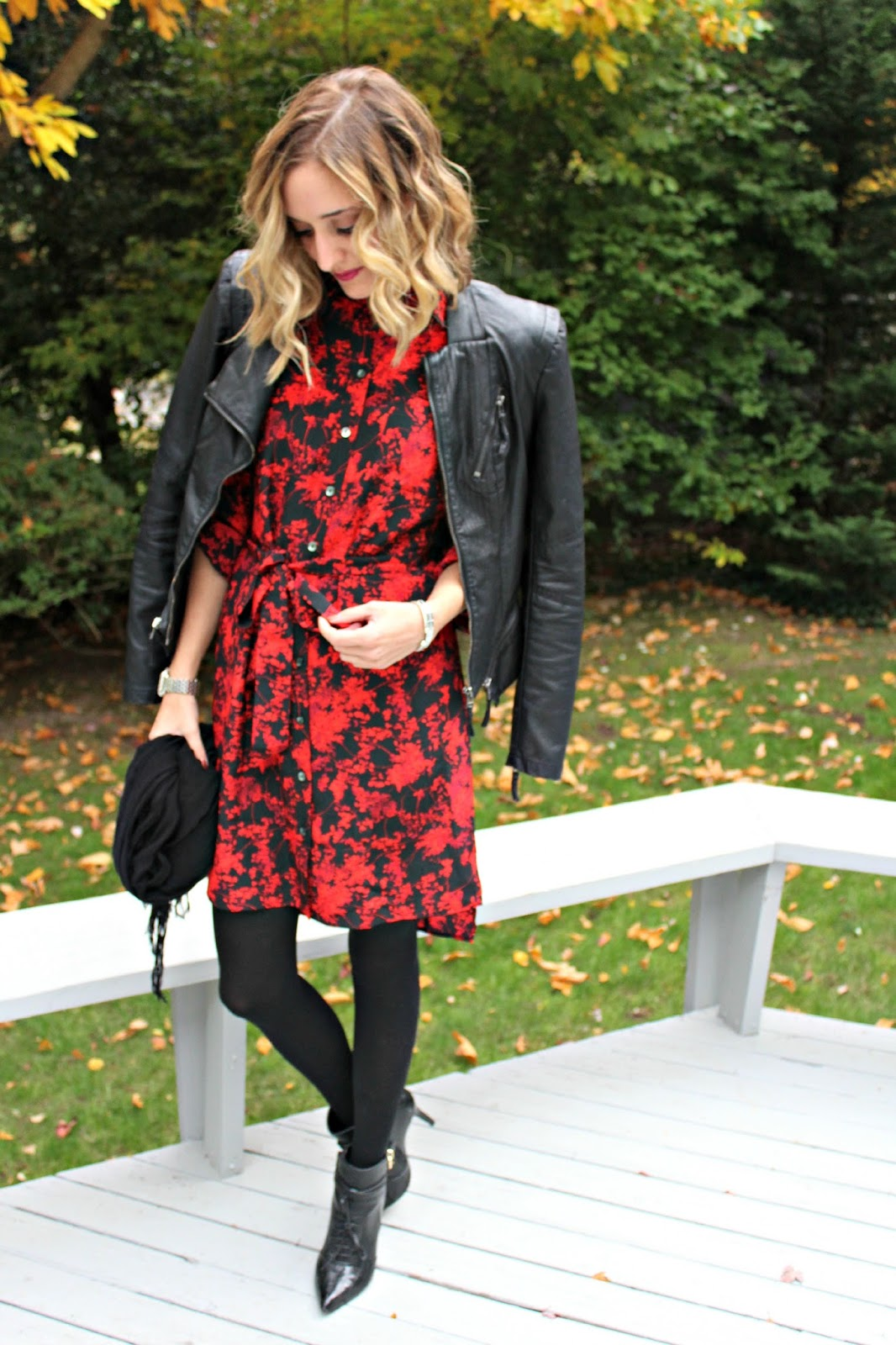 layering over a shirt dress