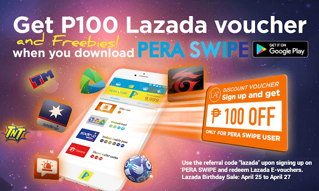 Lazada Philippines Offers P100 Discount Vouchers to PERA SWIPE Users #PeraSwipexLazada  #LazadaPHTurns6  @lazadaph