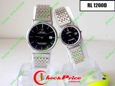 Đồng hồ cặp đôi Rolex 1200Đ