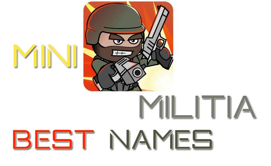 best mini militia avatar name image