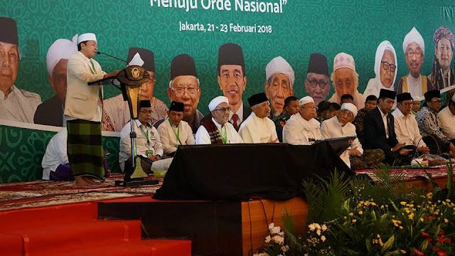 Jokowi, Kiai dan Habaib Bertemu di MDHW Doakan Keselamatan Bangsa