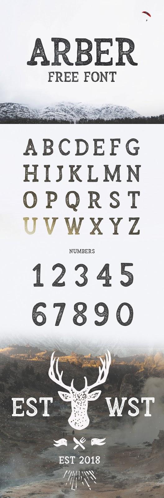 Vintage Font Gratis Terbaik - Arber Free Vintage Font