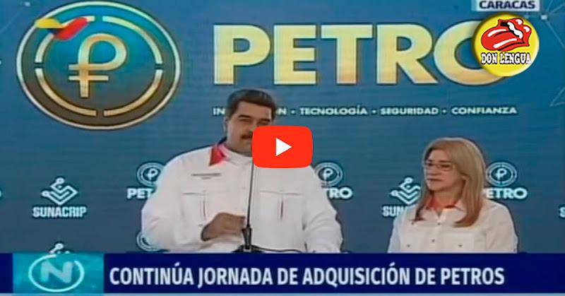 Maduro se burla del pueblo mandándonos a viajar pagando en Petros