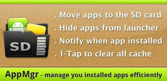 AppMgr Pro III (App 2 SD) v4.27 APK indir Android