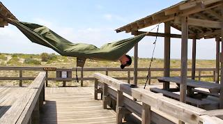 upside down in my ENO hammock