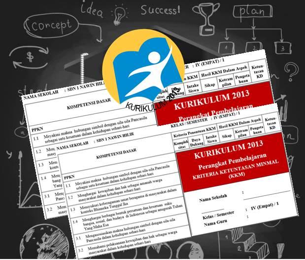 Prota dan Promes Serta KKM Kelas 4 SD Kurikulum 2013 Revisi Tahun 2016