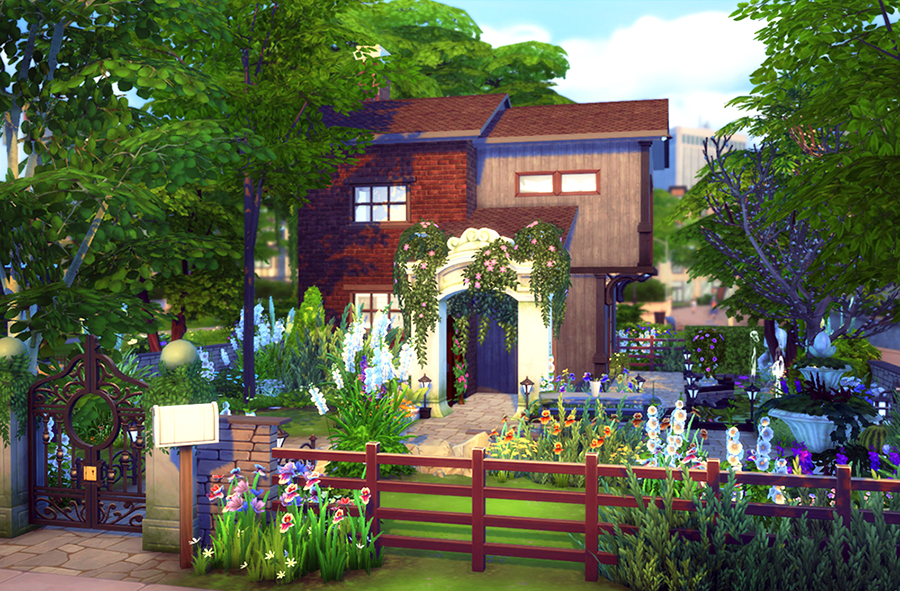 cozy garden retreat | sims 4 houses