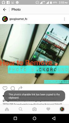 photo sharable link copied