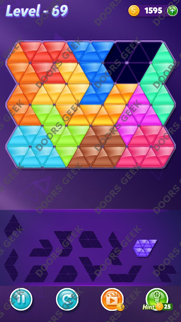 Block! Triangle Puzzle Grandmaster Level 69 Solution, Cheats, Walkthrough for Android, iPhone, iPad and iPod