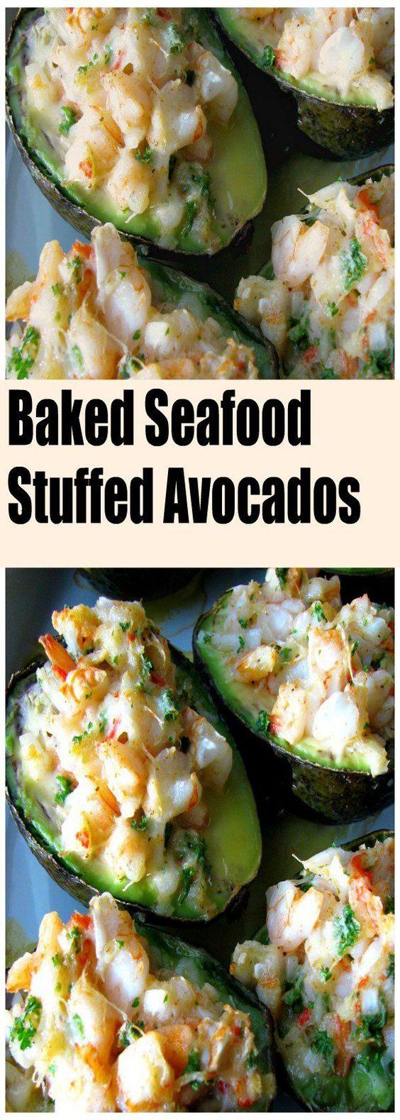 Baked Seafood Stuffed Avocados