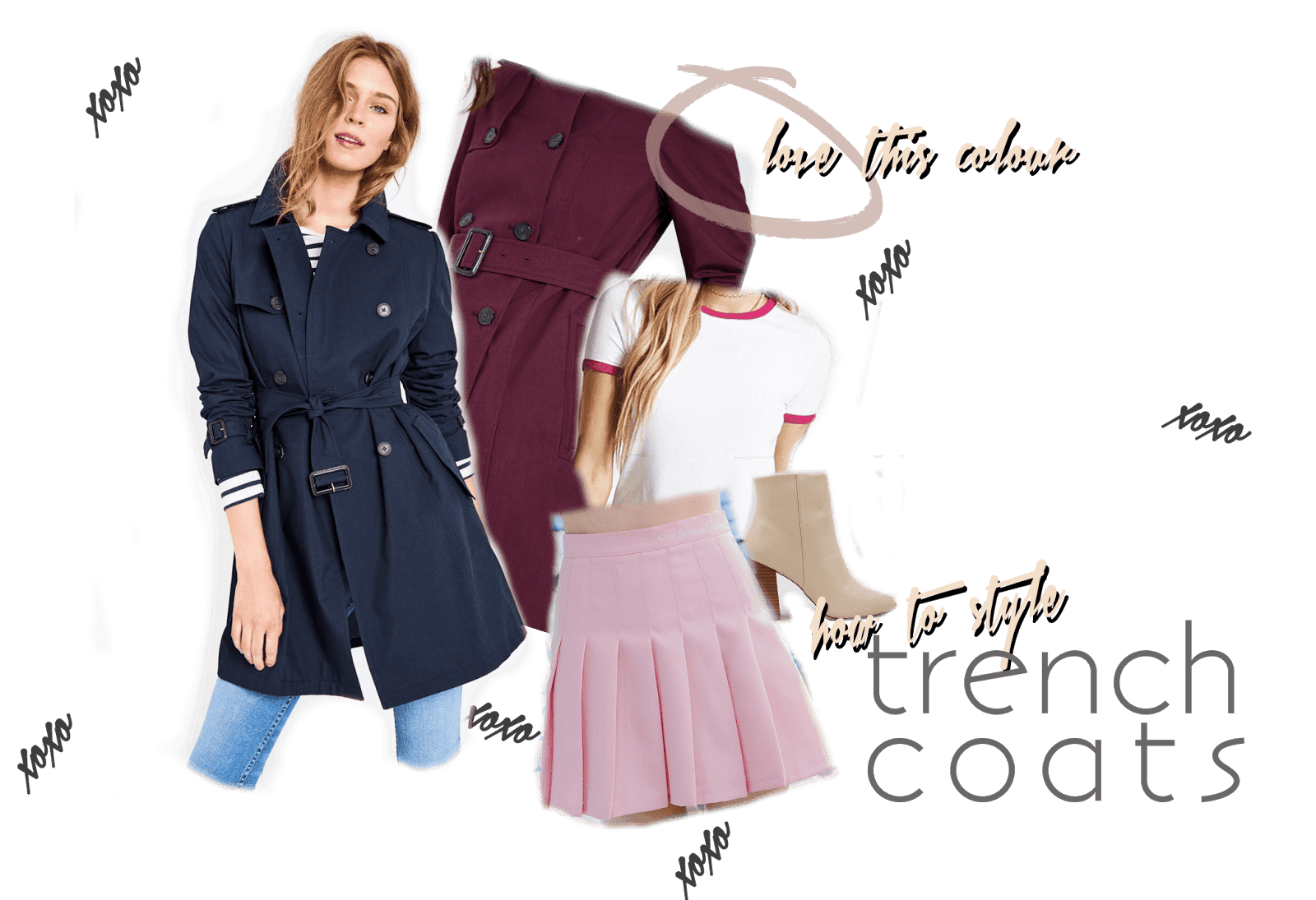 how to style jack wills trench coat transitional weather outfit inspiration