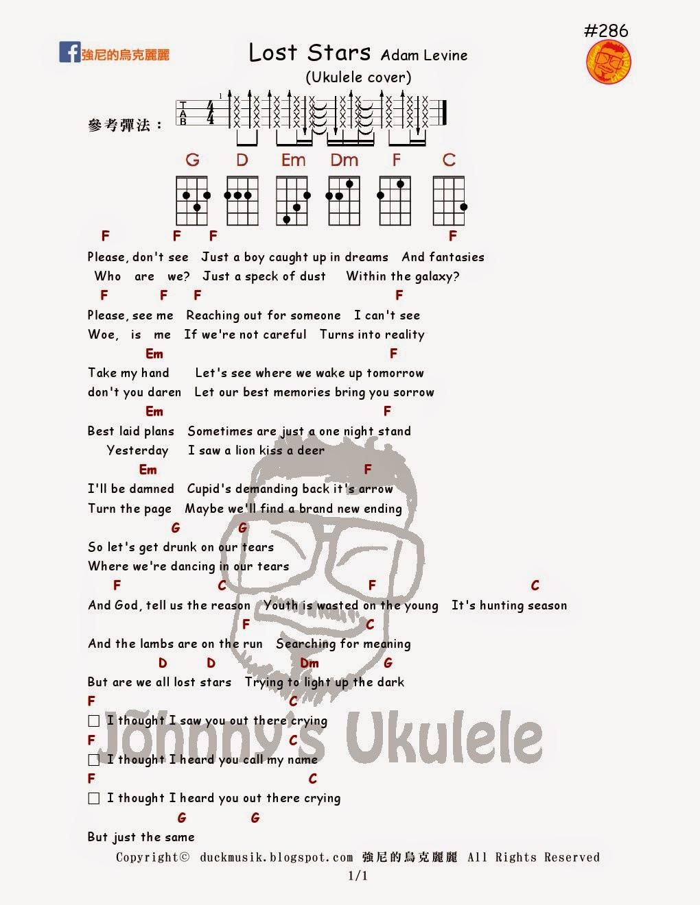Lost stars chords more information emillerfo johnny ukulele 286 lost stars hexwebz Gallery