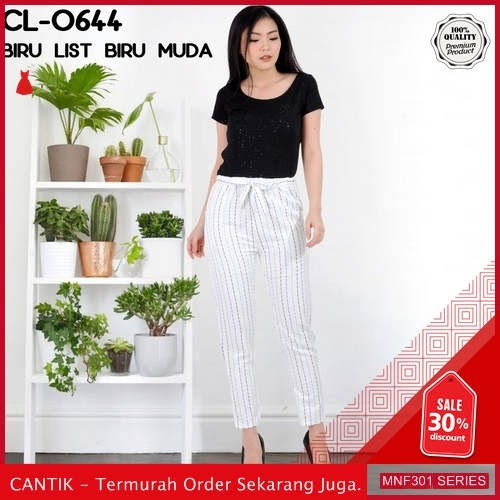 MNF301C154 Celana Cl Wanita 0644 Salur Pensil Celana 2019 BMGShop