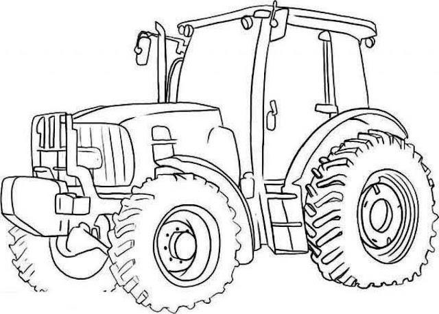 coloriage géant tracteur