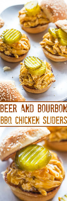 Beer In Addition To Bourbon Barbecue Chicken Sliders Recipe