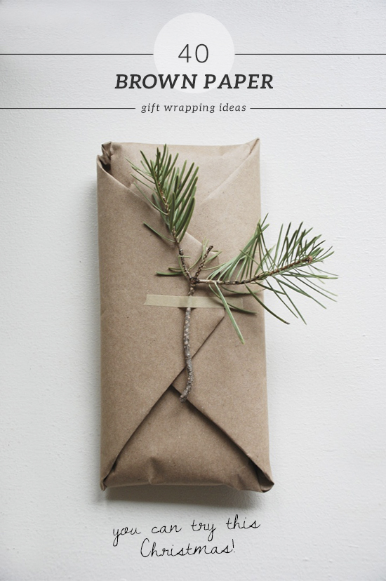 40 brown paper gift wrapping ideas my paradissi for How to wrap presents with wrapping paper