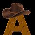 Abecedario con Caballos y Sombrero de Cowboy. Alphabet with Horses and Cowboy Hat.