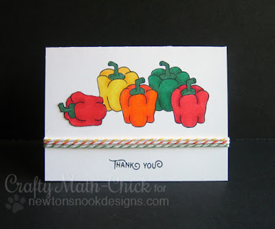 Thank You Peppers Card by Crafty Math Chick | Vegetable Garden Stamp set by Newton's Nook Designs