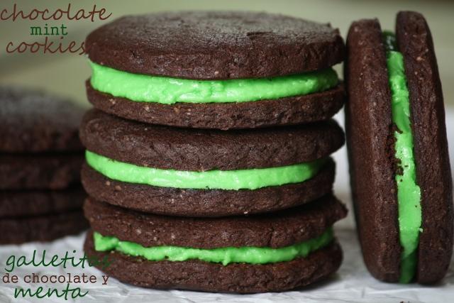 Galletitas de chocolate y menta / Chocolate mint cookies