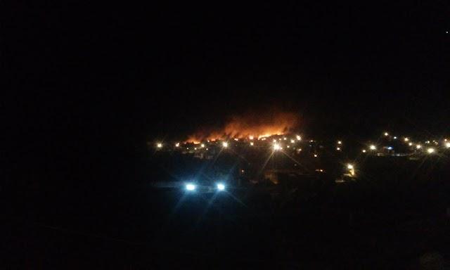 Incendio en Zona Militar