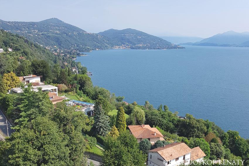 Widok na jezioro Maggiore z Sancarlone