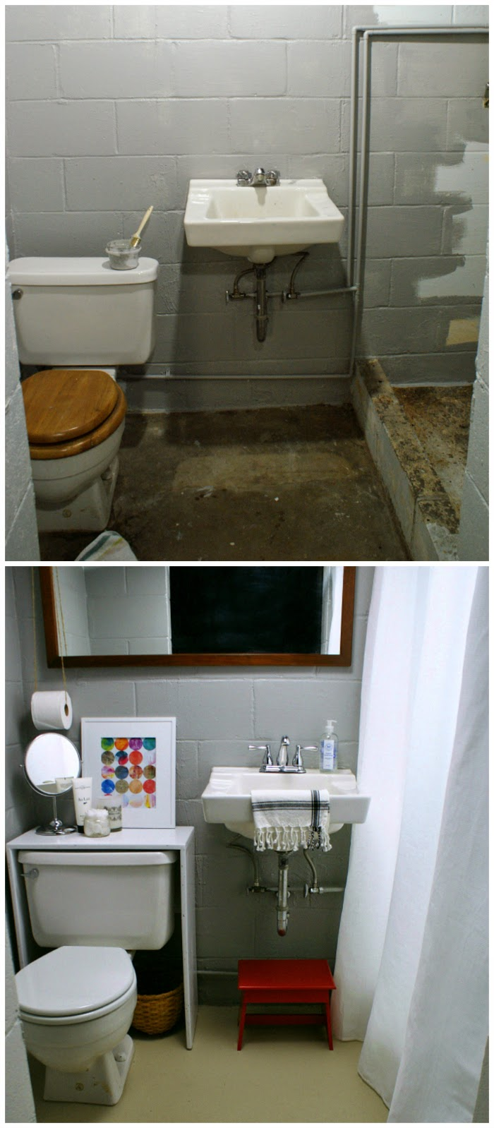 budget bathroom before and after