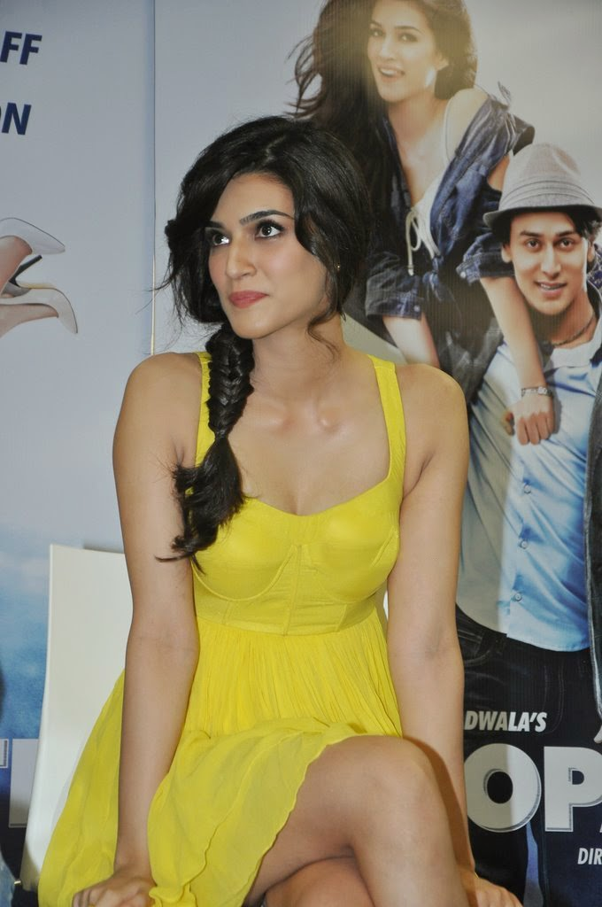 Kriti Sanon Hot Lags Show Photoshoot Stills In Yellow Dress