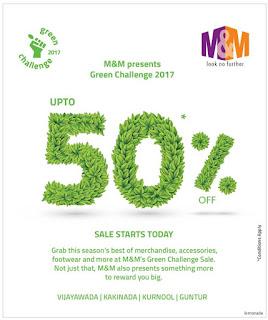 M&M GREEN CHALLENGE SALE