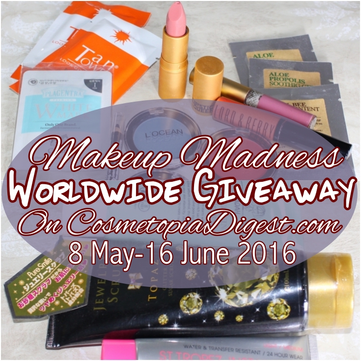May Makeup Madness International Beauty Giveaway