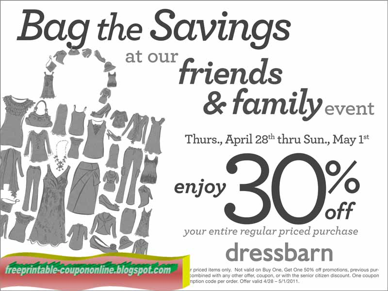 Printable Coupons 2018 Dress Barn Coupons