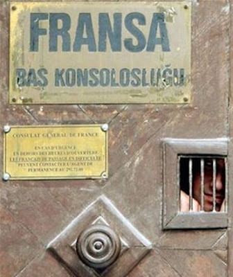 French Consulate Door in Turkey - Best Photo  of the Month