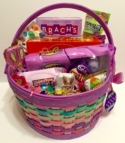 Oryans village candy blog large easter basket fille with candy our large easter basket is perfect for the whole family if you are looking to buy an easter basket for the family to share this is the one negle Choice Image