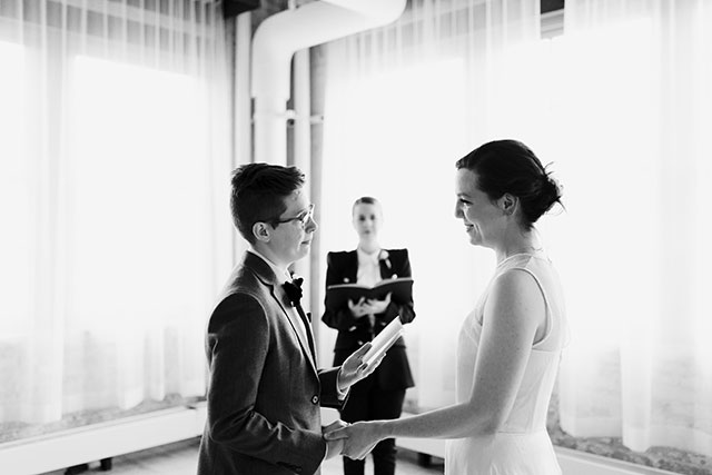 Saying our vows | Photography by Jessica Holleque