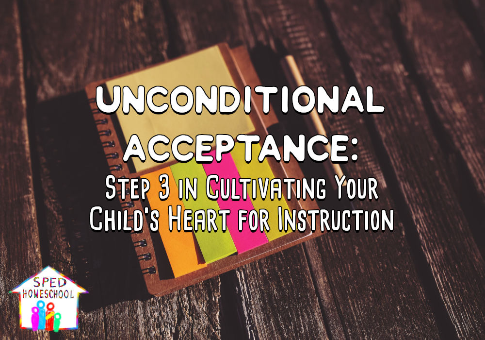 Unconditional Acceptance: Step 3 in Cultivating Your Child's Heart for Instruction