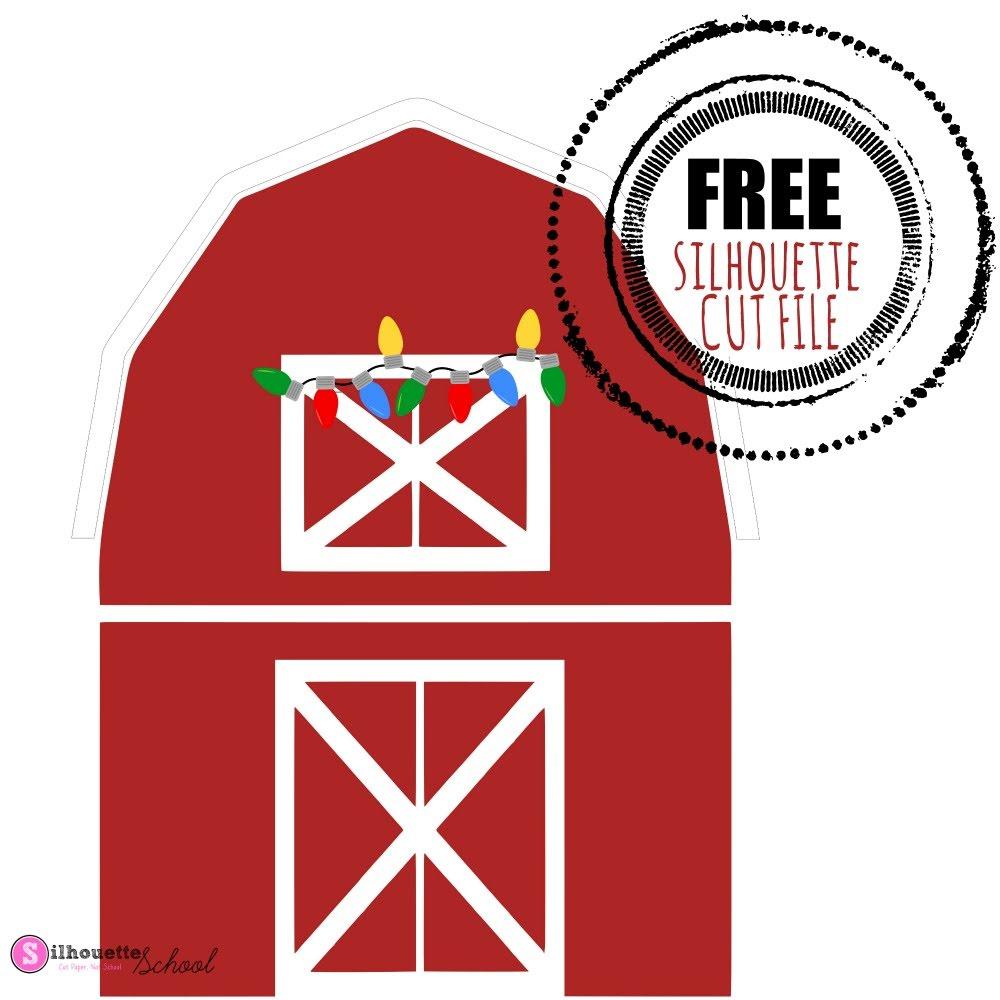 christmas barn silhouette studio free silhouette design free silhouette cut files silhouette