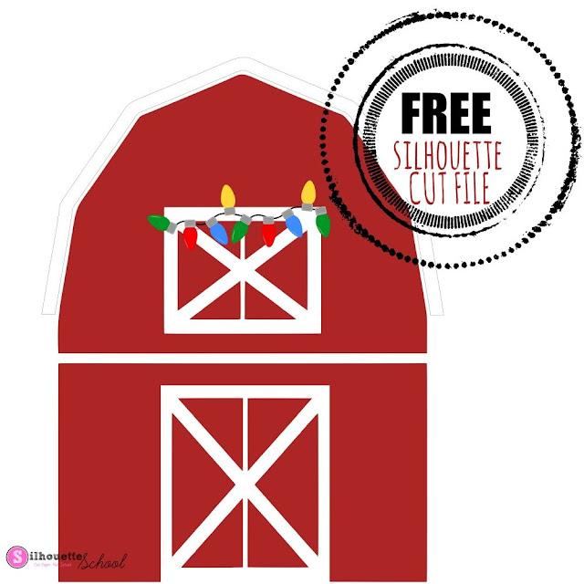 Christmas Barn, Silhouette Studio, Free Silhouette Design, Free Silhouette Cut files, Silhouette SVGS
