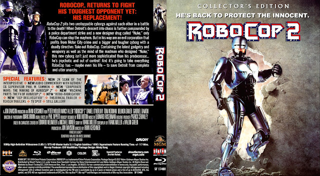 RoboCop 2 Bluray Cover