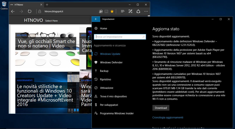 Aggiornamento Cumulativo di Novembre per Windows 10 2 HTNovo